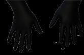 Luva Descartável Black Nitrílica Tam P - 5 pares