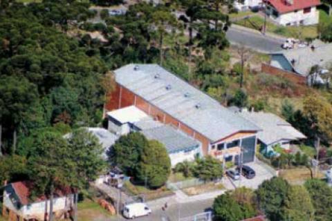 Foto aérea da Matriz